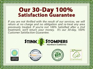 Stink Stompers 100% Odor Removal Guarantee