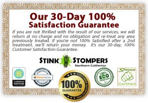 Stink Stompers 100% Customer Satisfaction Odor Removal Guarantee
